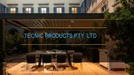 Tecnic Designed and Engineered Retractable Awnings