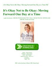 ^DOWNLOAD-PDF) It's Okay Not to Be Okay Moving Forward One Day at a Time Pdf