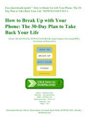 Free [download] [epub]^^ How to Break Up with Your Phone The 30-Day Plan to Take Back Your Life ^DOWNLOAD P.D.F.#