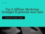 Top 3 Affiliate Marketing Strategies to generate more sales