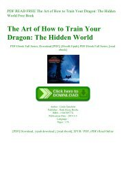 PDF READ FREE The Art of How to Train Your Dragon The Hidden World Free Book