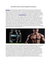 Enduraflex reviews natural supplement products pdf