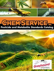 Chem Service Pesticide Catalogue 2019 Update