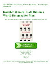 FREE DOWNLOAD Invisible Women Data Bias in a World Designed for Men PDF
