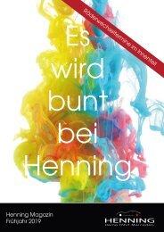 Henning Automobil: Kundenzeitung Frühjahr '19
