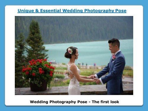 Unique Wedding Photography Pose