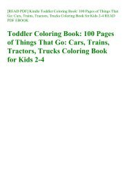 [READ PDF] Kindle Toddler Coloring Book 100 Pages of Things That Go Cars  Trains  Tractors  Trucks Coloring Book for Kids 2-4 READ PDF EBOOK
