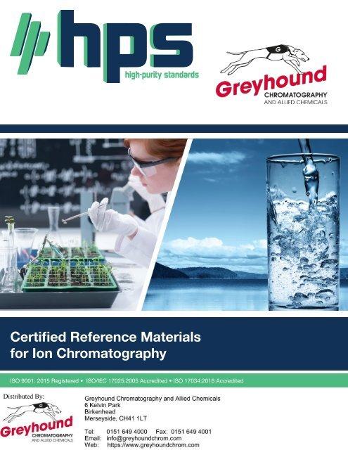 High Purity Ion-Chromatography-Brochure 2019
