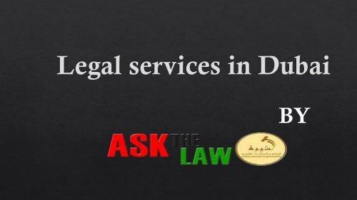 Legal Service in Dubai