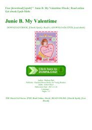 Free [download] [epub]^^ Junie B. My Valentime Ebook  Read online Get ebook Epub Mobi