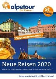 Alpetour Neue Reisen 2020