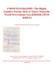 Free [download] [epub]^^ The Highly Sensitive Person How to