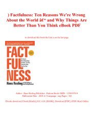 ^DOWNLOAD-PDF) Factfulness Ten Reasons We're Wrong About the World – and Why Things Are Better Than You Think eBook PDF