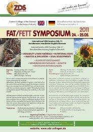 Programme Fat Symposium - Zentralfachschule der Deutschen ...