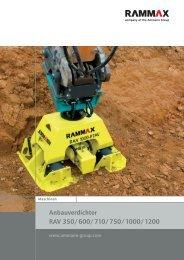 Anbauverdichter RAV 350/600/710/750/1000/1200 - Ammann