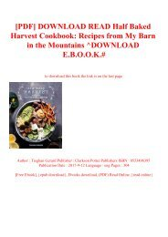 [PDF] DOWNLOAD READ Half Baked Harvest Cookbook Recipes from My Barn in the Mountains ^DOWNLOAD E.B.O.O.K.#