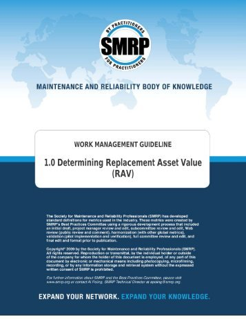 1.0 Determining Replacement Asset Value (RAV) - Society for ...