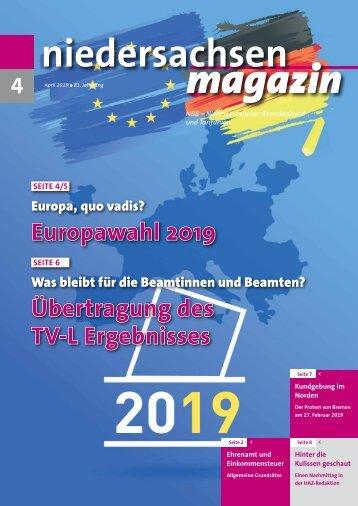 niedersachsen magazin-April 2019