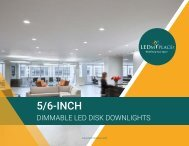 What are 5-6 Inch LED Dimmable Disk Downlights