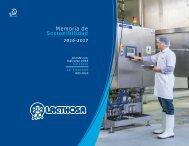 Memoria de Sostenibilidad Lacthosa 2016 - 2017