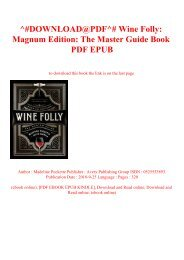 ^#DOWNLOAD@PDF^# Wine Folly Magnum Edition The Master Guide Book PDF EPUB