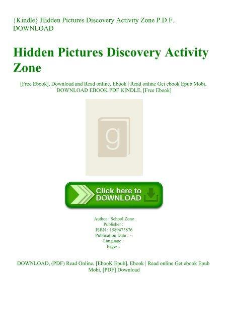 Activity Zone Hidden Pictures