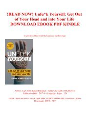 !READ NOW! Unfuk Yourself Get Out of Your Head and into Your Life DOWNLOAD EBOOK PDF KINDLE