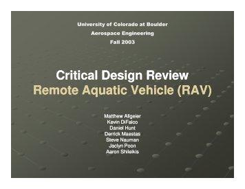 RAV - Aerospace Engineering Sciences Senior Design Projects ...