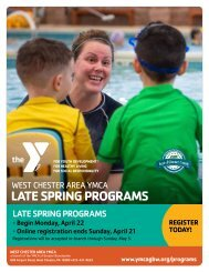 West Chester YMCA Late Spring Programs - 2019
