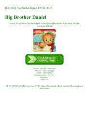 READ [EBOOK] Big Brother Daniel EPUB  PDF