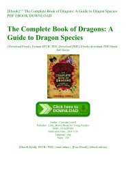 [Ebook]^^ The Complete Book of Dragons A Guide to Dragon Species PDF EBOOK DOWNLOAD