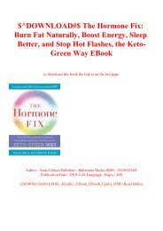 $^DOWNLOAD#$ The Hormone Fix Burn Fat Naturally  Boost Energy  Sleep Better  and Stop Hot Flashes  the Keto-Green Way EBook
