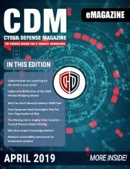 Cyber Defense eMagazine April 2019