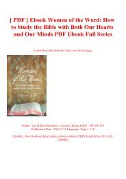 [ PDF ] Ebook Women of the Word How to Study the Bible with Both Our Hearts and Our Minds PDF Ebook Full Series