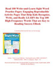 Read 100 Write-and-Learn Sight Word Practice Pages Engaging Reproducible Activity Pages That Help Kids Recognize  Write  and Really LEARN the Top 100 High-Frequency Words That are Key to Reading Success EBook