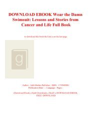 DOWNLOAD EBOOK Wear the Damn Swimsuit Lessons and Stories from Cancer and Life Full Book