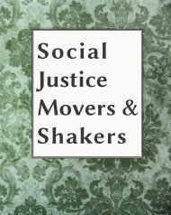 Social Justice Movers & Shakers