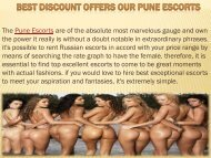 50% Off Pune Escorts Services Hurry Up