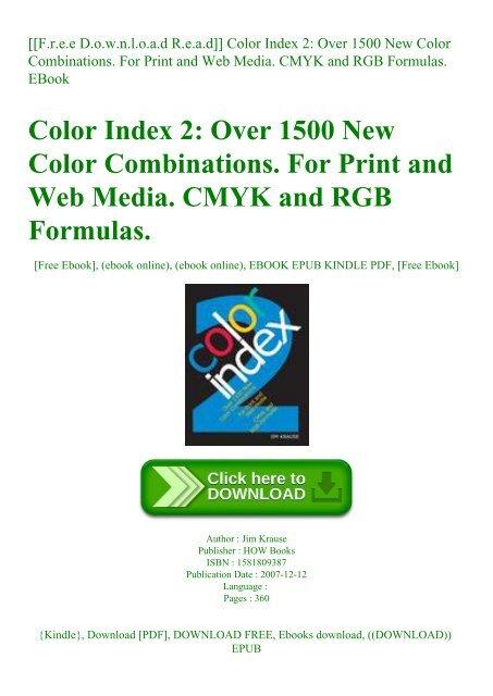 color index 2 pdf free download