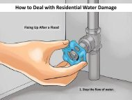 How to Deal with Residential Water Damage Clean up, Remove & Restoration
