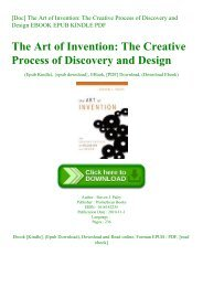 [Doc] The Art of Invention The Creative Process of Discovery and Design EBOOK EPUB KINDLE PDF