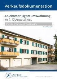 Verkaufsdokumentation Gemshalde 26, 8200 Schaffhausen