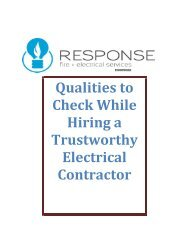 Qualities to Check While Hiring a Trustworthy Electrical Contractor