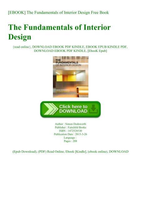 Read Ebook The Fundamentals Of Interior Design Free Book
