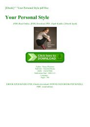 [Ebook]^^ Your Personal Style pdf free
