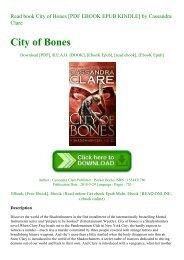 The City Of Bones Epub