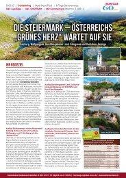 """Die Steiermark – Österreichs """"grünes Herz"""" wartet auf Sie"""