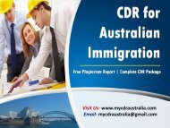 My CDR Australia | CDR for Australian Immigration | Migration Consultant