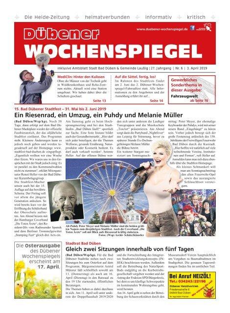 Dübener Wochenspiegel - Ausgabe 06 - Jahrgang 2019