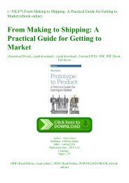 (P.D.F. FILE) From Making to Shipping A Practical Guide for Getting to Market (ebook online)